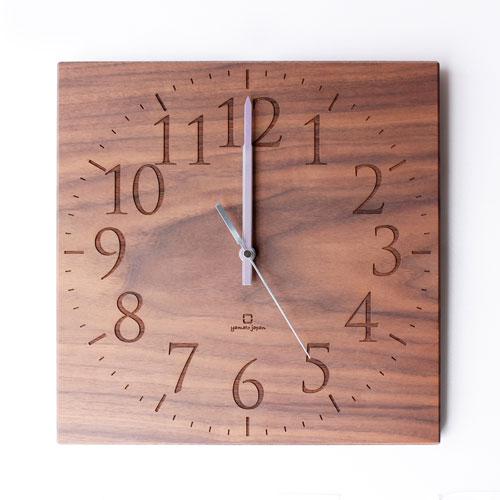 無垢板の時計 ウォールナット