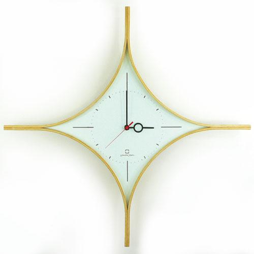 ダイヤモンド型の時計 パウダーアクア