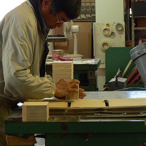 アートな木製時計,ダイス,職人