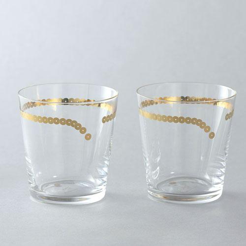 ビーズでおめかししたグラス 2個セットでお届けします