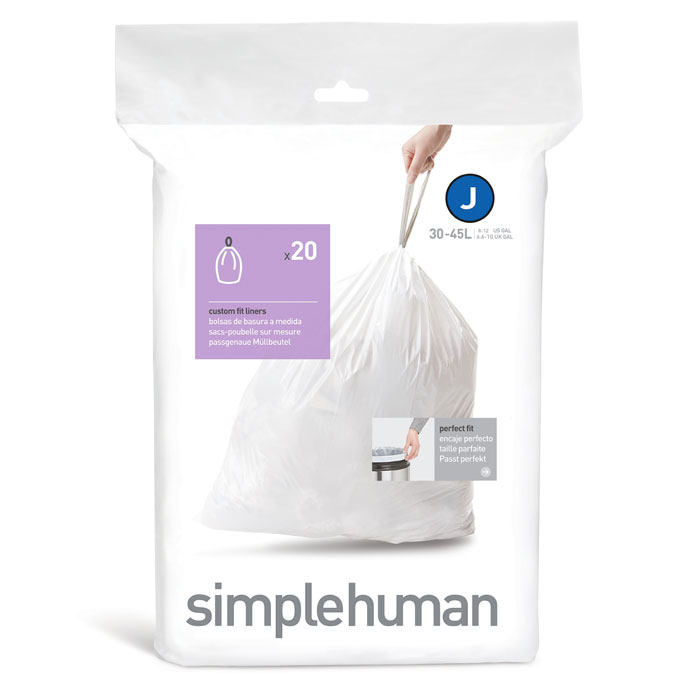 セミラウンドセンサーダストボックス45L | simplehuman | 使いやすい専用ごみ袋