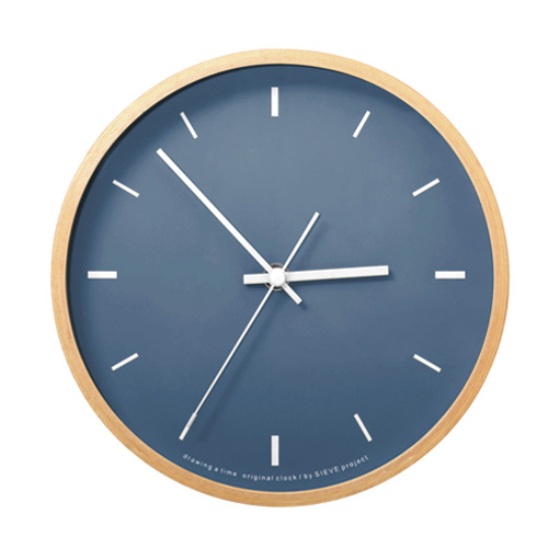 Paint Clock,ペイントクロック,ネイビー,商品画像