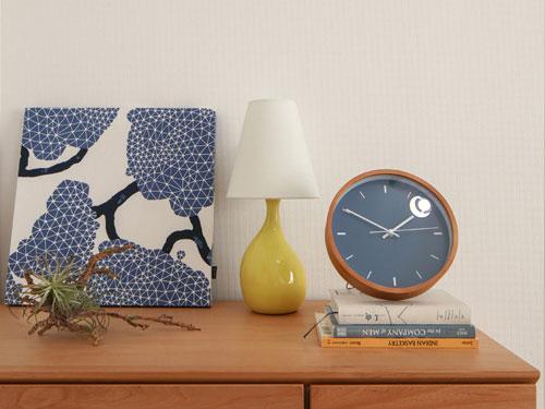 Paint Clock,ペイントクロック,ネイビー,北欧テイストの表情に