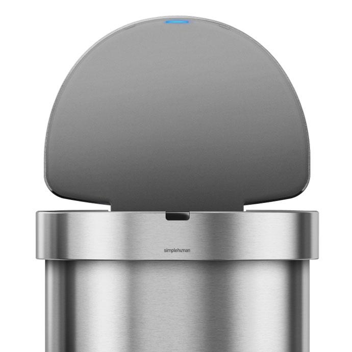 セミラウンドセンサーダストボックス45L | simplehuman | 90度開けたままキープ可能