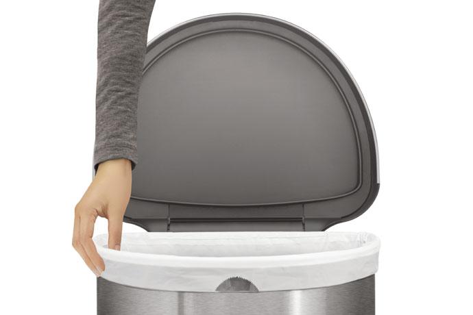 セミラウンドセンサーダストボックス45L | simplehuman | ゴミ袋交換ラクラク