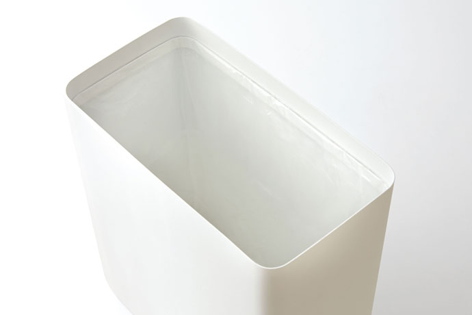 スチール製のダストボックス | ゴミ袋のストッパーリング付き