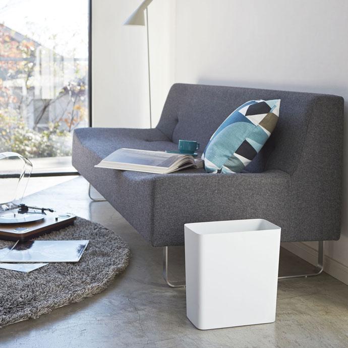 スチール製のダストボックス | シンプルなデザイン | ホワイト