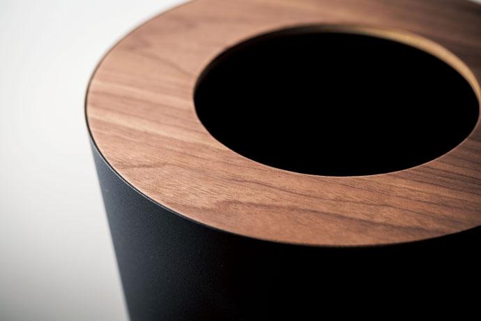 上質デザインの蓋付きダストボックス   丸型   丈夫な素材   お手入れカンタン