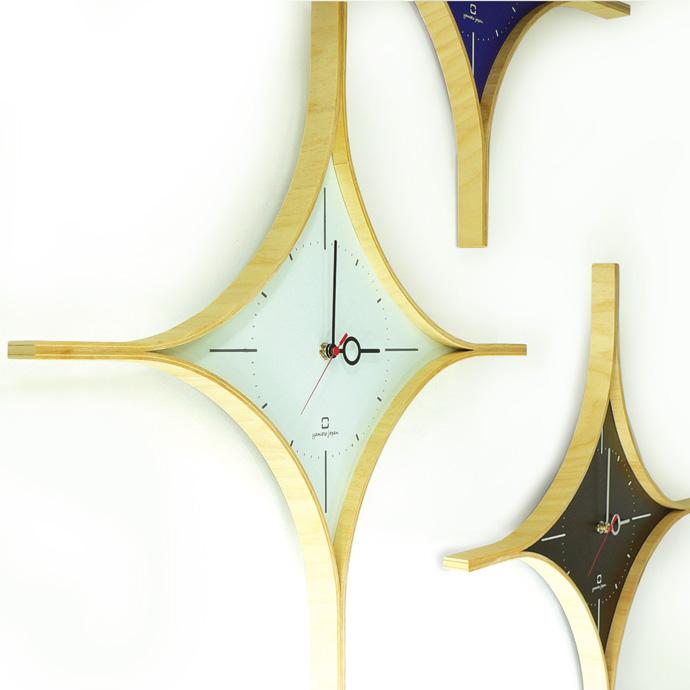 ダイヤの形の時計 | DAIA CLOCK | ヤマト工芸 | 壁に掛けて