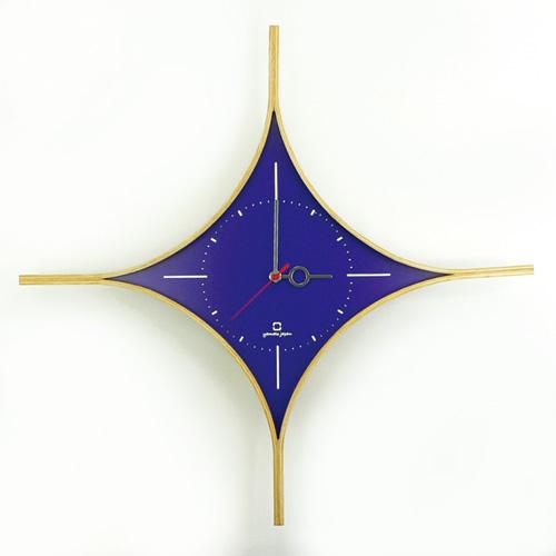 ダイヤの形の時計/パープル