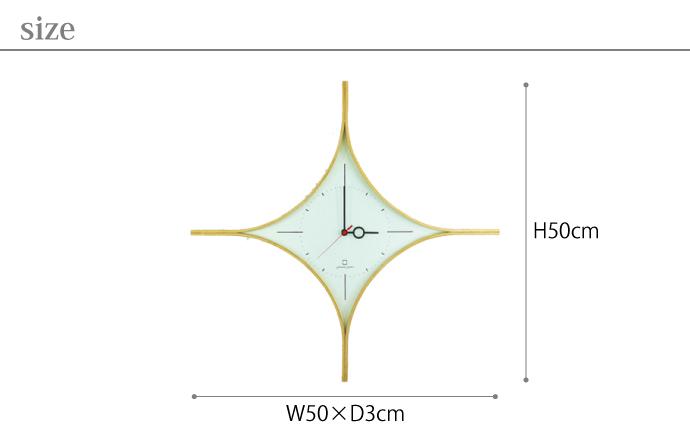 ダイヤの形の時計 | DAIA CLOCK | ヤマト工芸 | サイズ