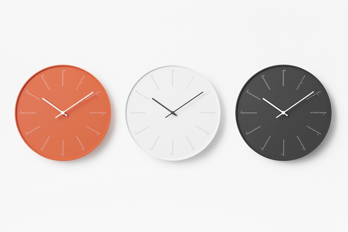 divide | ディバイド | nendoデザインの壁掛け時計シリーズ