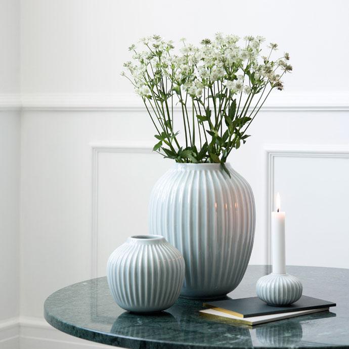 ハンマースホイ,フラワーベース,ミント,鮮やかな花の彩りをより引き立ててくれます