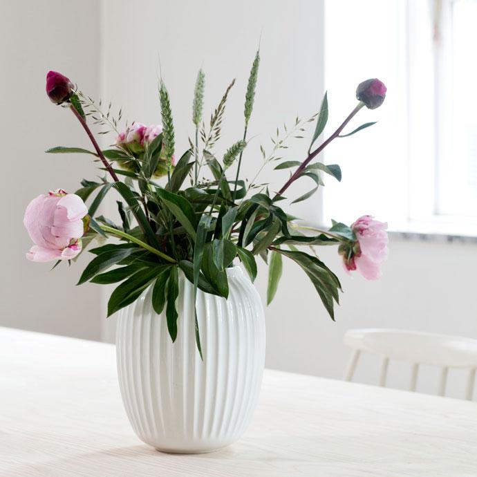 ハンマースホイ,フラワーベース,ホワイト,花のある暮らしを楽しむ