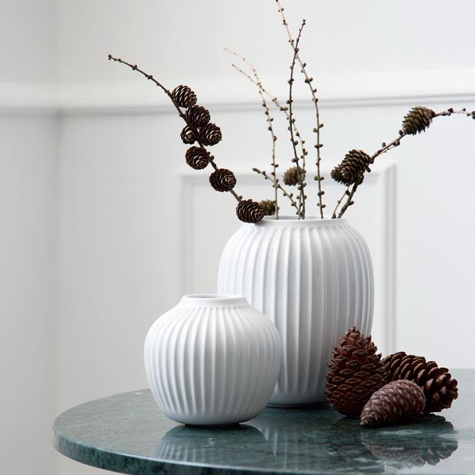 ハンマースホイ,フラワーベース,ホワイト,枝ものを飾っても絵になります