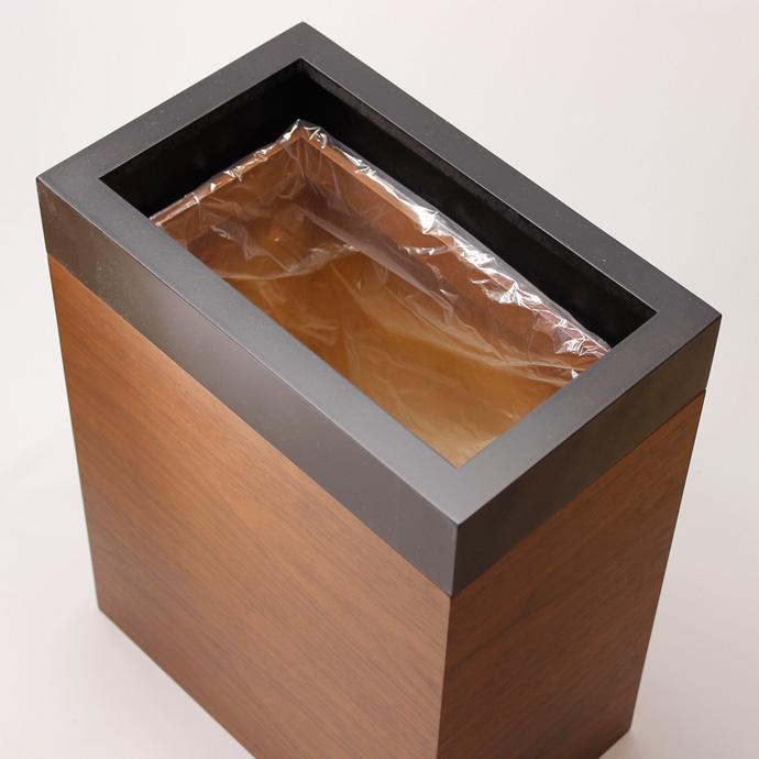 ウォールナットのダストボックス| MODERN DUST | ヤマト工芸 | 美しいシルエット