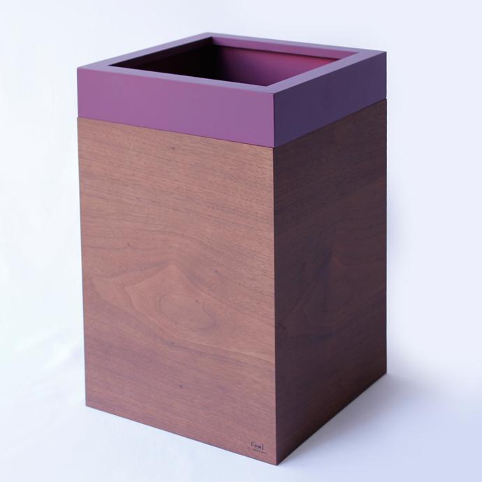 ウォールナットのダストボックス/キューブ | MODERN DUST CUBE | ヤマト工芸 | 直線的なフォルム
