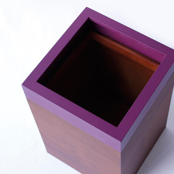ウォールナットのダストボックス/キューブ | MODERN DUST CUBE | ヤマト工芸 | 美しいシルエット