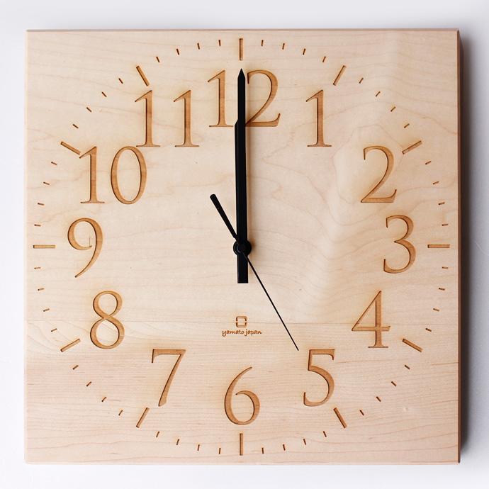 無垢板の時計 | MUKU | ヤマト工芸 | メイプル
