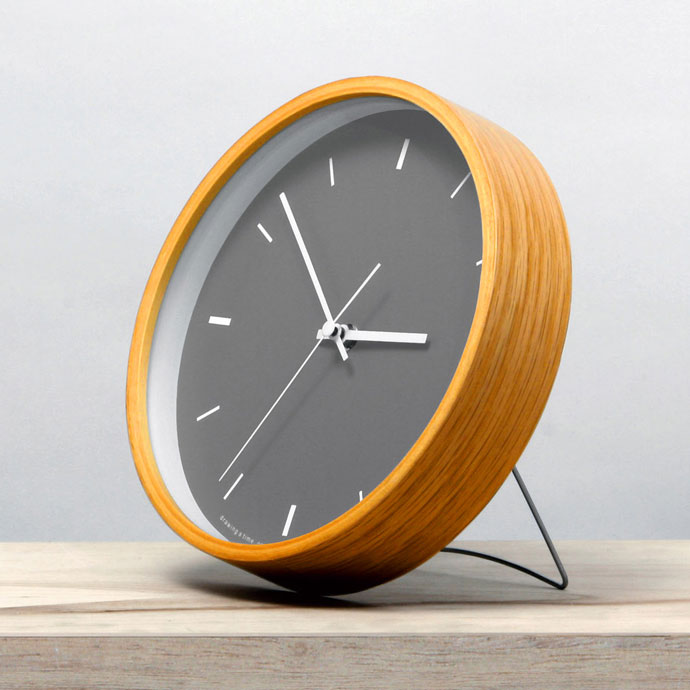 Paint Clock | ペイントクロック | ダークグレー