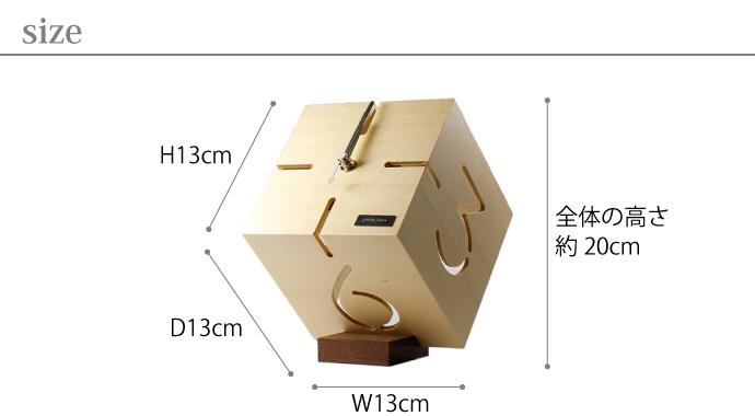 アートな木製時計/ダイス | PUZZLE STAND TYPE M | ヤマト工芸 | サイズ