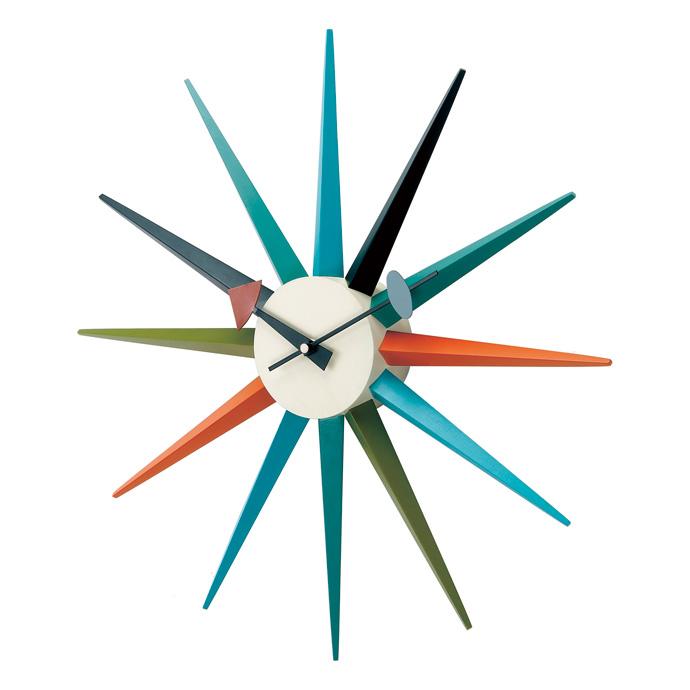 George Nelson Sunburst Clock | ジョージネルソン | サンバーストクロック | マルチカラー