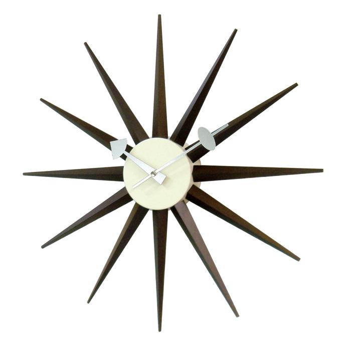 George Nelson Sunburst Clock | ジョージネルソン | サンバーストクロック | ウォールナット