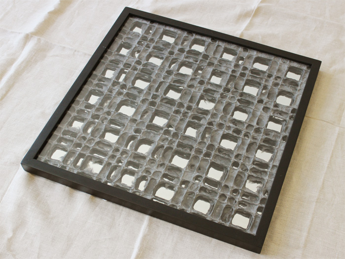 和紙アートパネル,koushi,格子模様を和紙で作ったアートパネル
