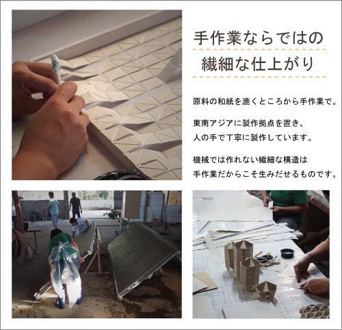 和紙アートパネル,koushi,メイキング