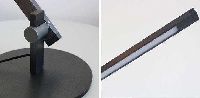 LED Sabel,LEDサーベル,デスクランプ,表面はアルマイト加工にヘアライン仕上げ