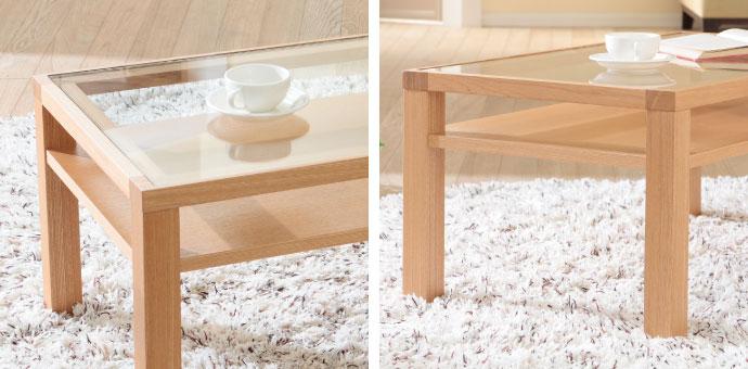 ブエノ リビングテーブル,ちょこっと置きに便利な棚板