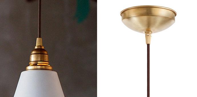 レイルロード | ペンダントライト | 真鍮のソケット | 配線器具部分