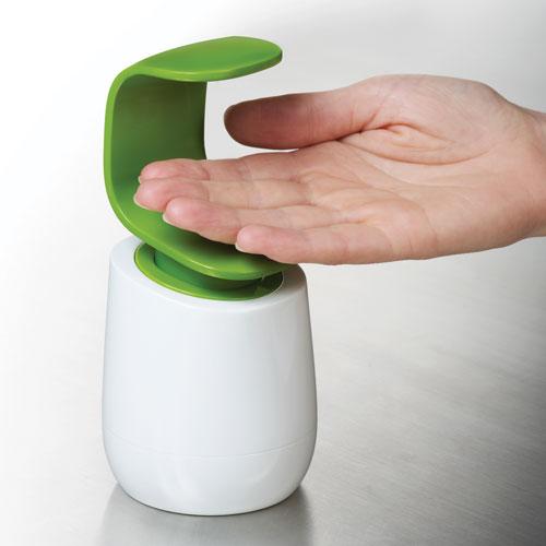 片手で簡単に使える ソープディスペンサー