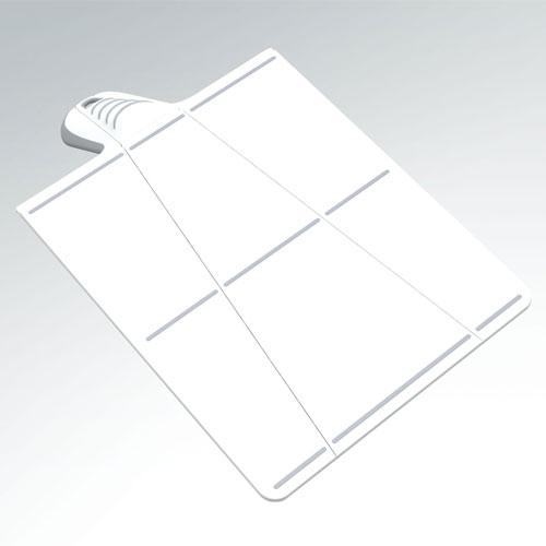 まな板,ホワイト,両端が折れる優れもの,取っ手部分