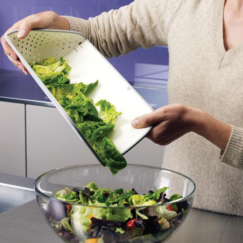 まな板,水切り,ホワイト,そのままお皿に盛り付けられます