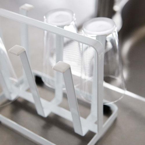 シンプルデザインのグラススタンド/ブラック クローズアップ