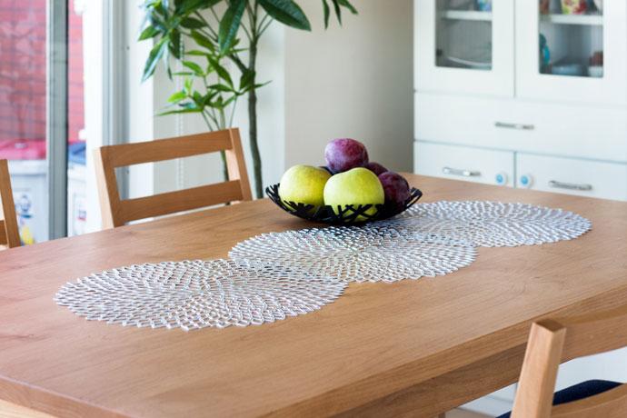 ランチョンマット,ダリア,テーブルに並べてテーブルアクセントとしても◎