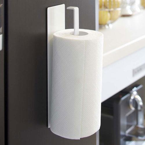 マグネットでピタッ!キッチンペーパーホルダー,ホワイト,お洒落なシンプルデザイン