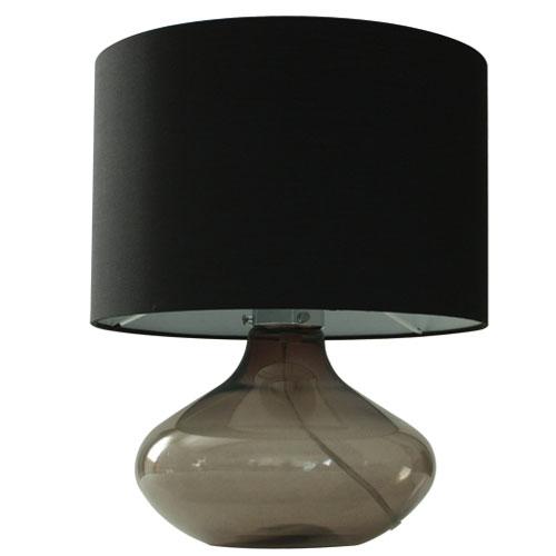ガラスベースのテーブルランプ/ブラック