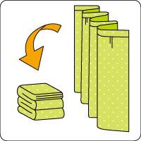 カーテンの畳み方