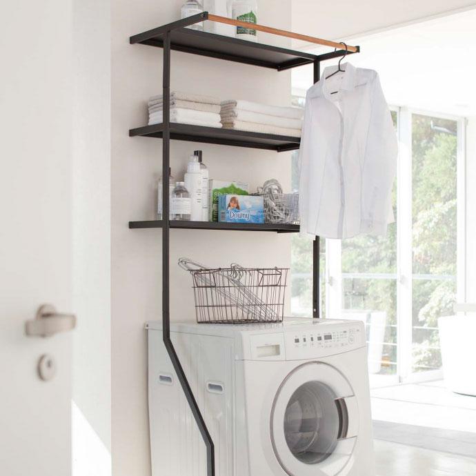 立て掛け式のランドリーシェルフ,毎日のお洗濯がスムーズに