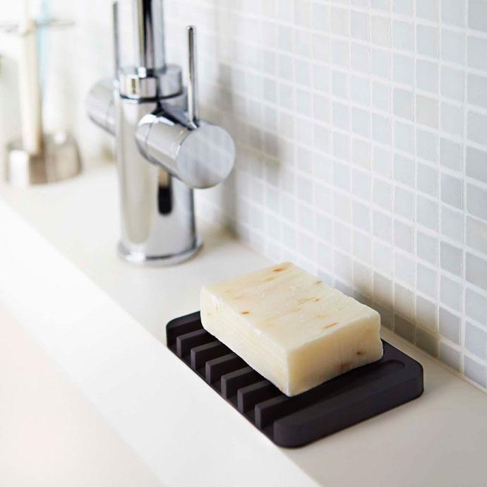 水切りできる石鹸トレー | ブラック
