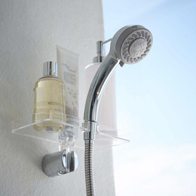 技ありシャワーホルダートレー   バスルームがすっきり