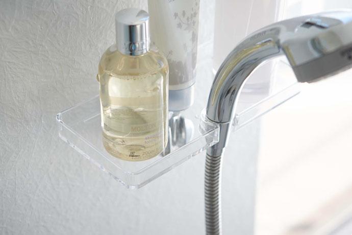 技ありシャワーホルダートレー   水はけを考慮した溝付き