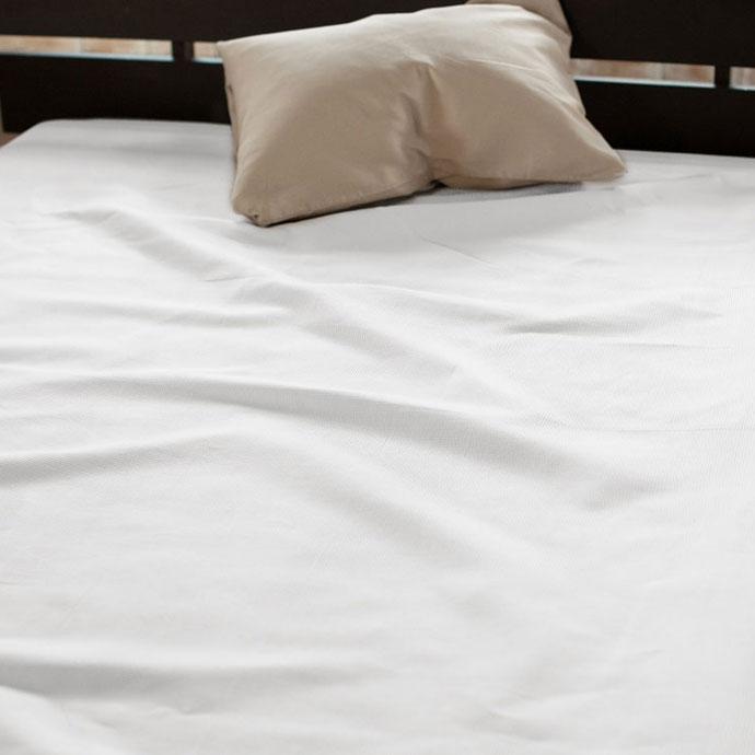 ベッドシーツ   ハニカム   ホワイト
