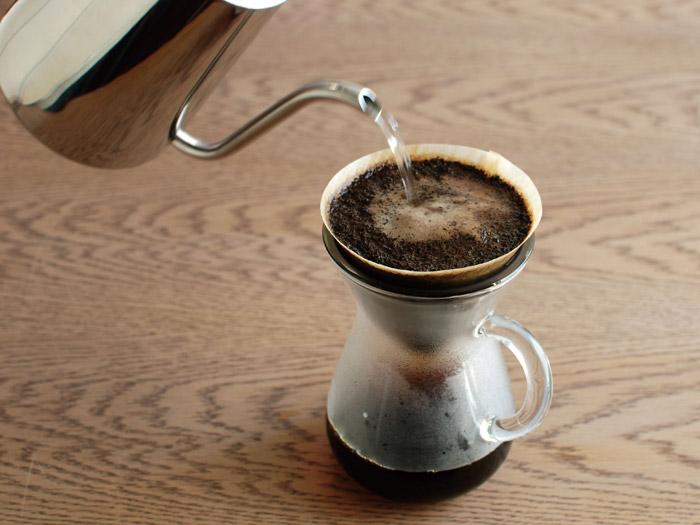 Genuineコーヒーポット,お湯を落とす位置をしっかりとらえます