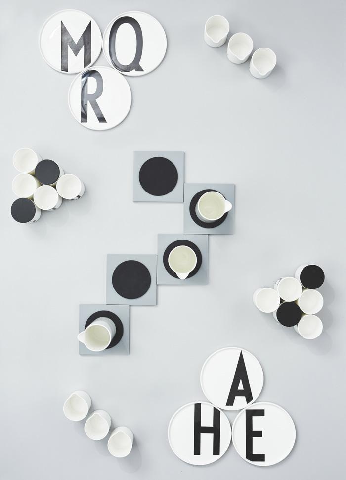 DESIGN LETTERS,Porcelain Plate,アルネ・ヤコブセンが創り出したタイポグラフィを復刻