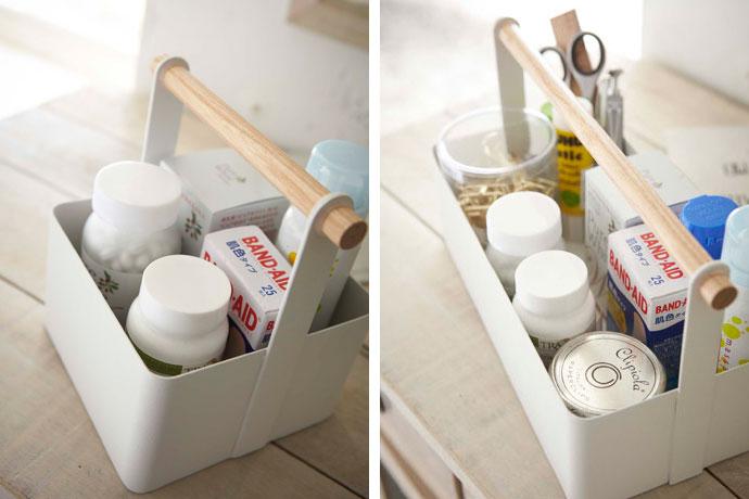 白いハンディツールボックス | SサイズとLサイズ