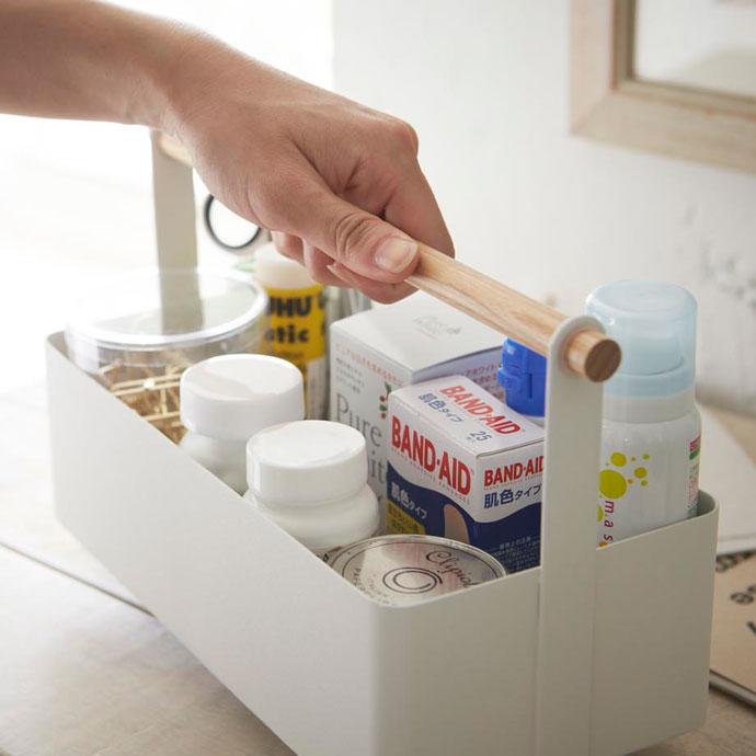 白いハンディツールボックス | 長く使える丈夫な素材