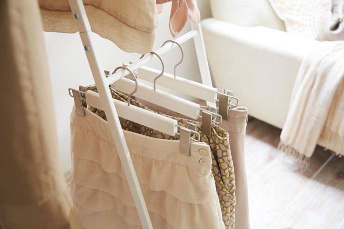 アパレルスタイルのコートハンガー/ワイド | スカート掛けにちょうどいい